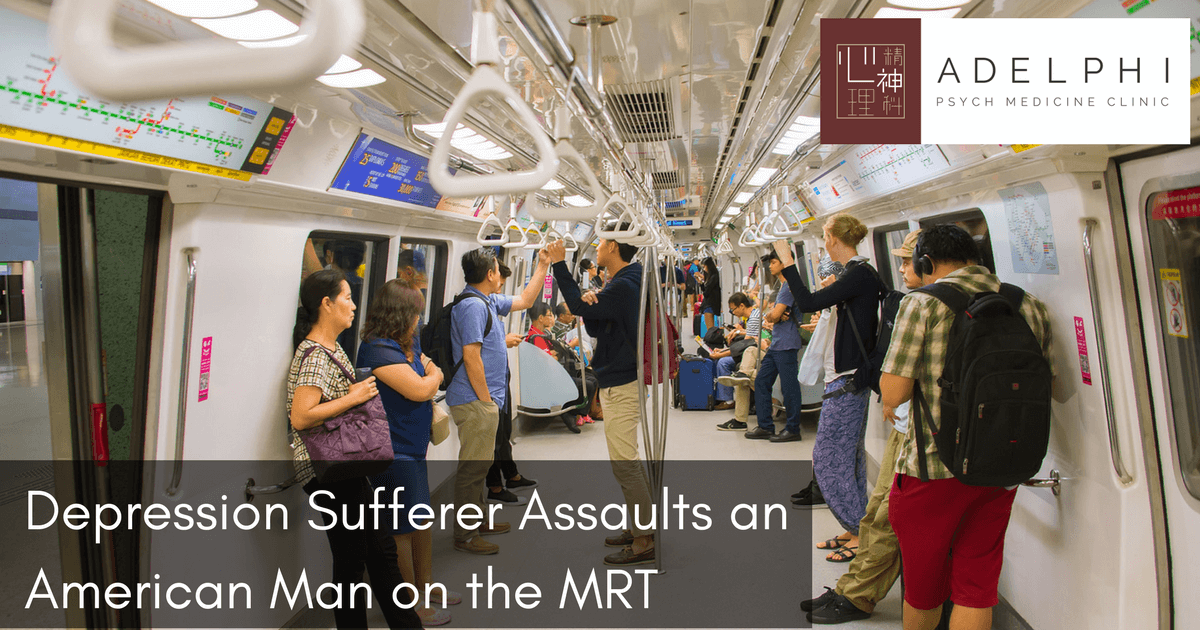 Depression Sufferer Assaults an American Man on the MRT